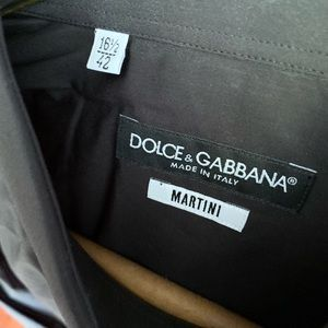 NWT Dolce & Gabbana Black Button Up Dress Shirt